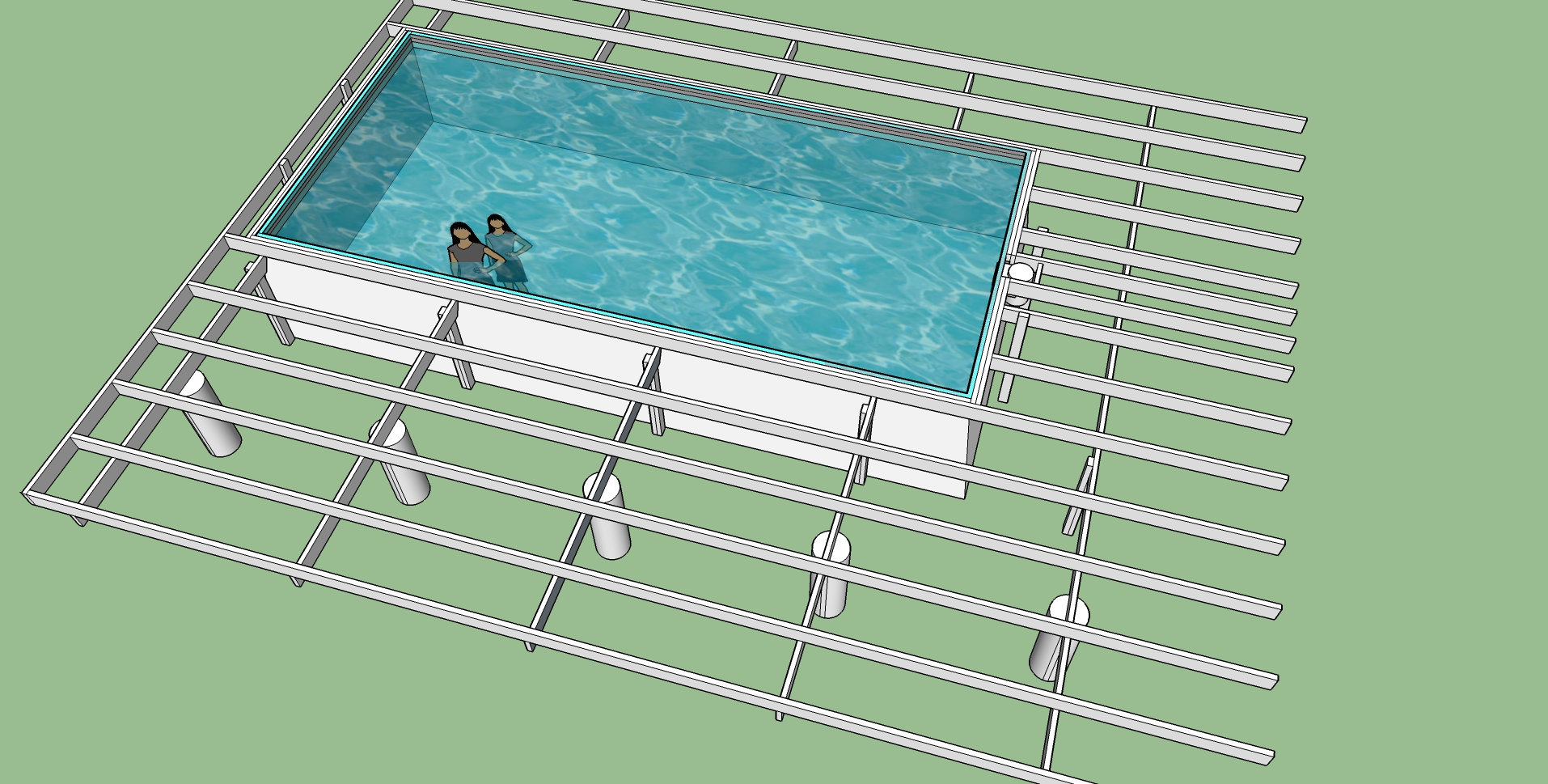 hanging a rectangular intex ultra frame pool directly from the pool deck page 6. Black Bedroom Furniture Sets. Home Design Ideas